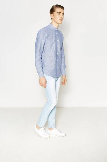 Casual striped linen shirt