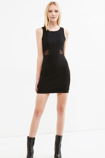 Sleeveless stretch dress, Black, hi-res