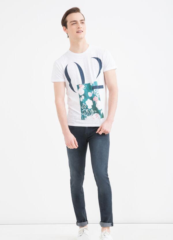 T-shirt girocollo con stampa | OVS