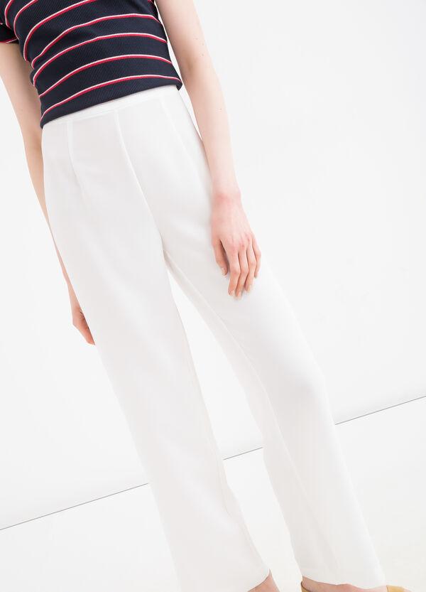 Pantaloni vita alta tinta unita | OVS