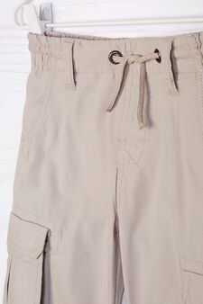 Bermuda shorts in 100% cotton, Beige, hi-res