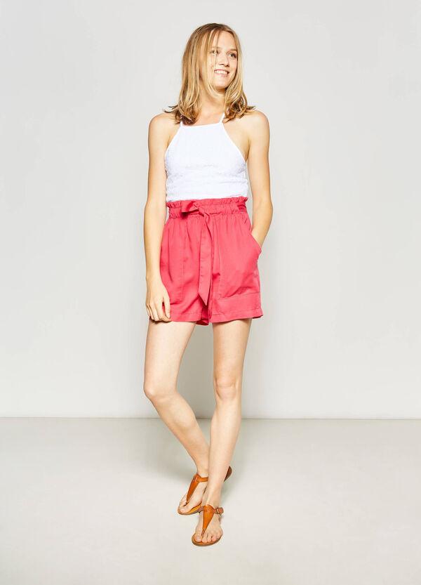 Shorts de talle alto con cinturón | OVS
