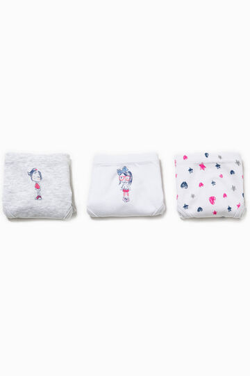 Three-pack printed and patterned briefs