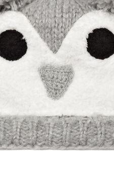 Beanie cap with faux fur, Light Grey, hi-res