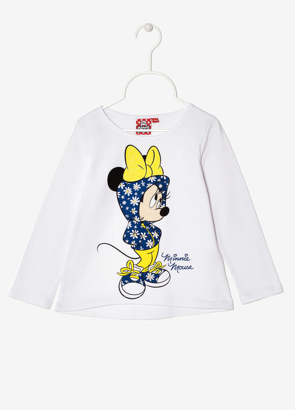 T-shirt con stampa cartoons e strass | OVS