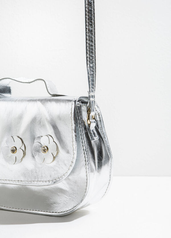 Shiny shoulder bag with flowers | OVS