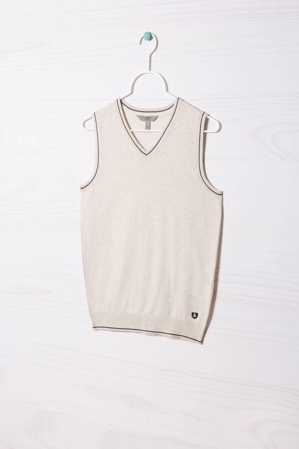 Cotton blend knitted waistcoat | OVS