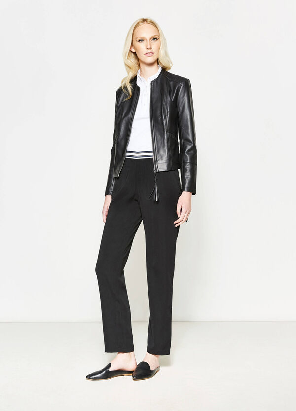 Trousers with striped waist band | OVS