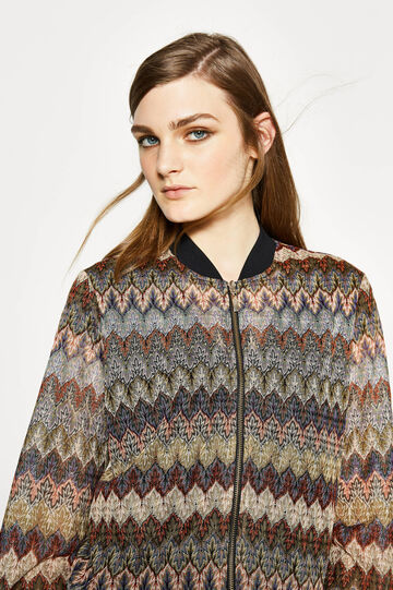 Patterned blazer with zip, Multicolour, hi-res