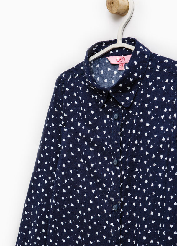 100% viscose patterned shirt | OVS