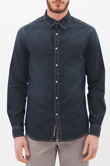 G&H denim shirt, Blue, hi-res