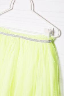 Lined openwork skirt, Neon Yellow, hi-res