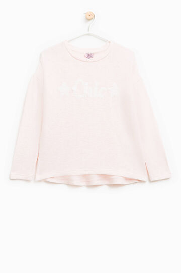 Pullover stretch con paillettes, Rosa, hi-res