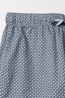 Patterned pyjama trousers, White, hi-res