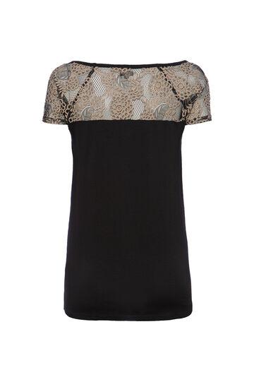 Smart Basic T-shirt with lace, Multicolour, hi-res