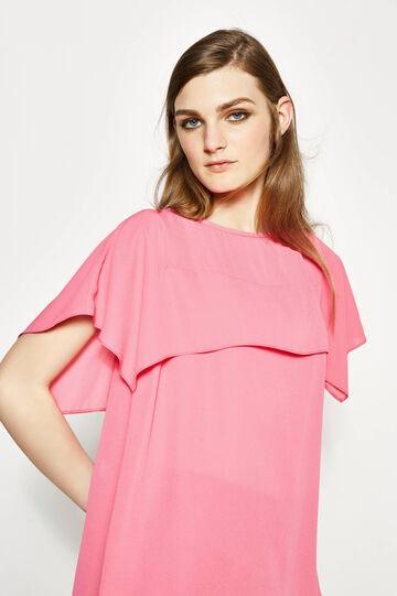 Solid colour blouse with flounces