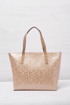 Shopping bag, pixel effect, Pink, hi-res