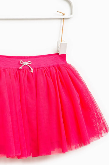 Tulle skirt with bow, Fuchsia, hi-res