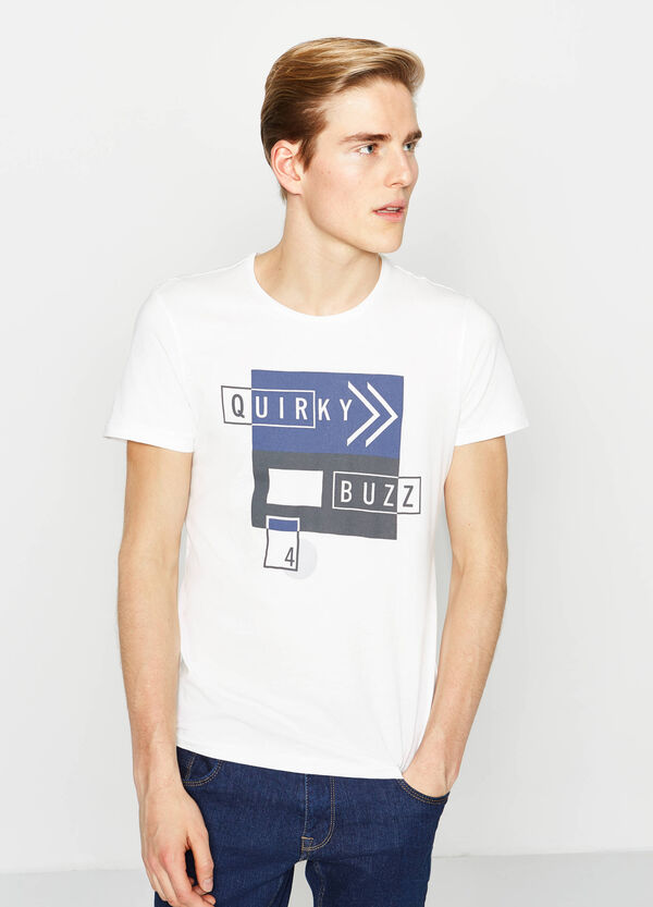 T-shirt with print on front and back | OVS