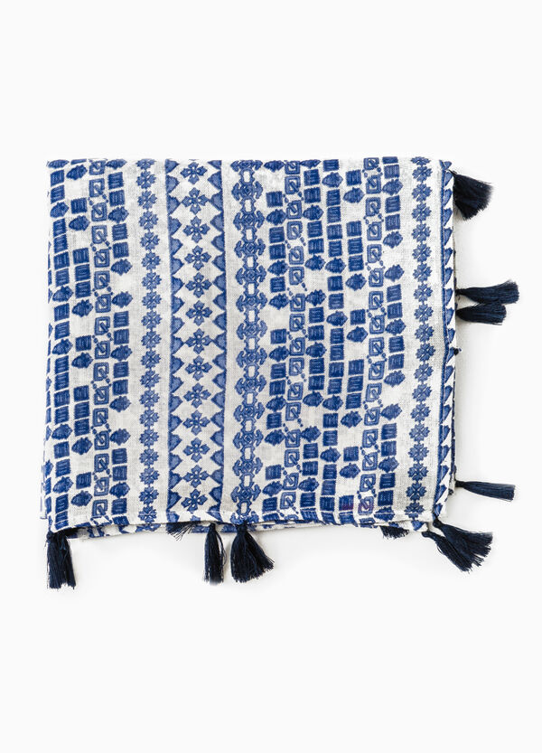Pashmina with tassels and geometric pattern | OVS