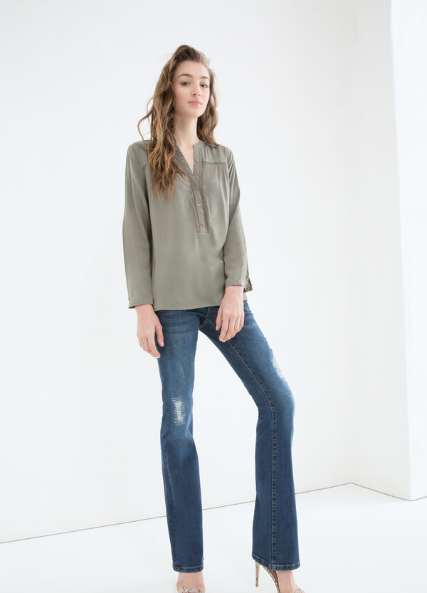 V-neck blouse in 100% viscose | OVS