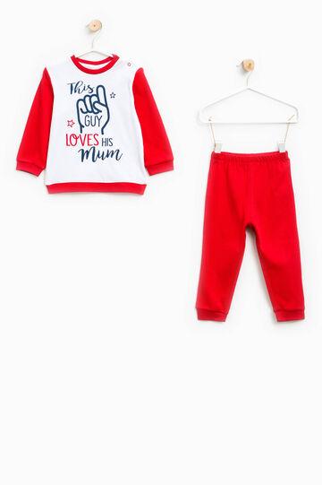 100% cotton printed pyjamas, White/Red, hi-res