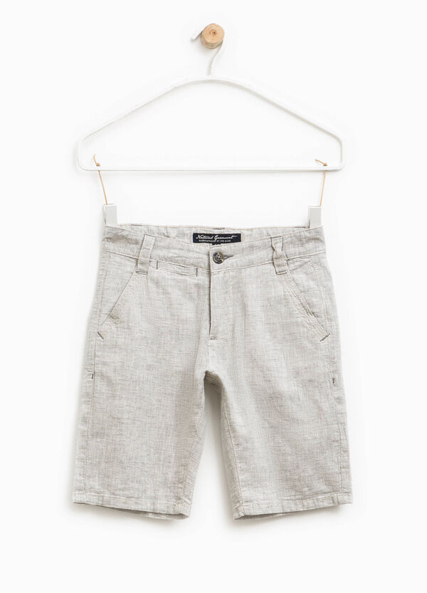 Linen and cotton Bermuda shorts | OVS