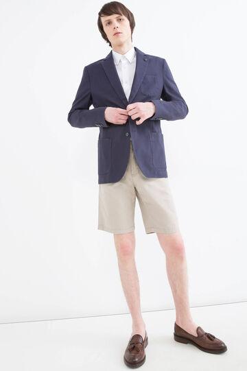 Giacca in cotone stretch, Blu, hi-res