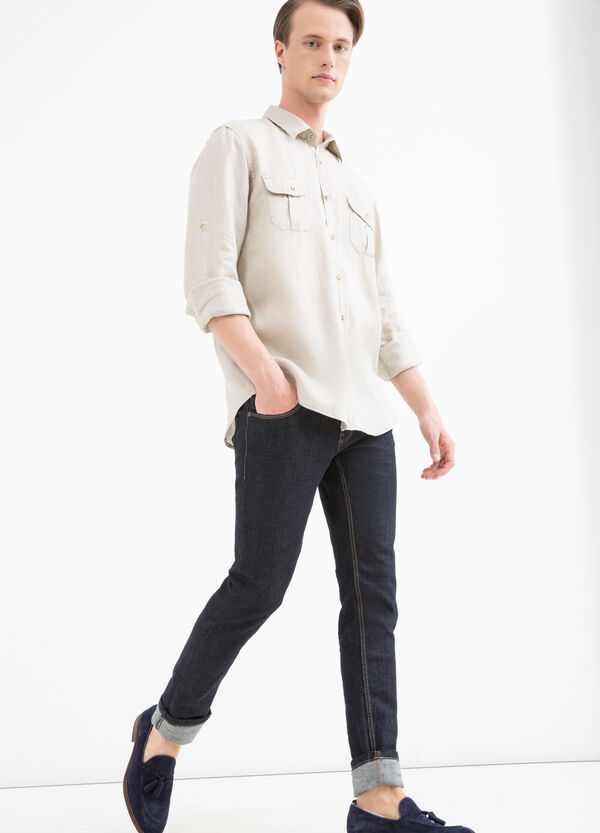100% linen shirt with pockets | OVS