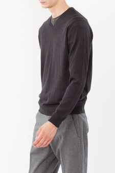 Pullover in wool blend, Smoke Grey, hi-res
