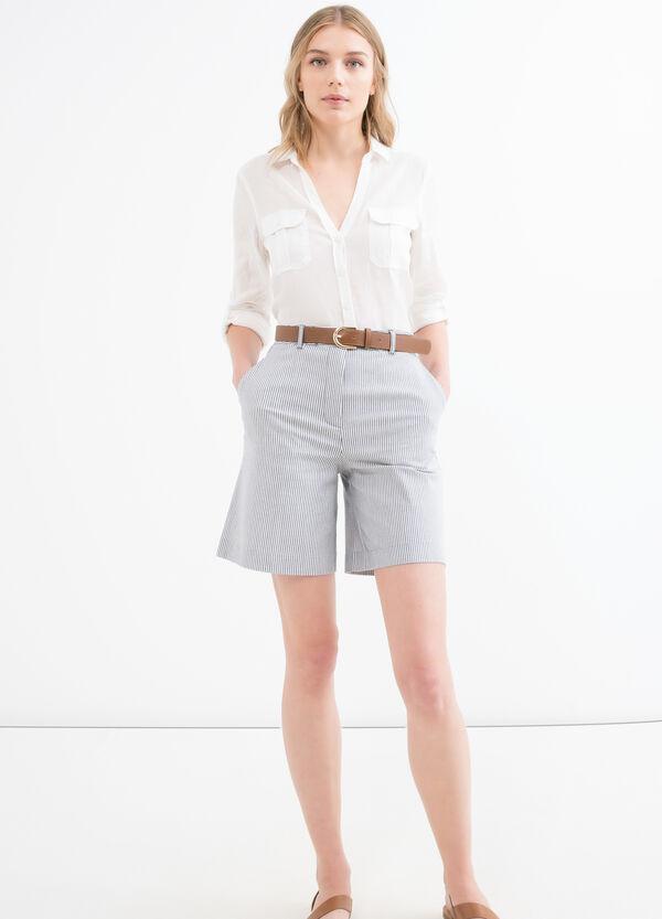 Solid colour stretch cotton shorts | OVS