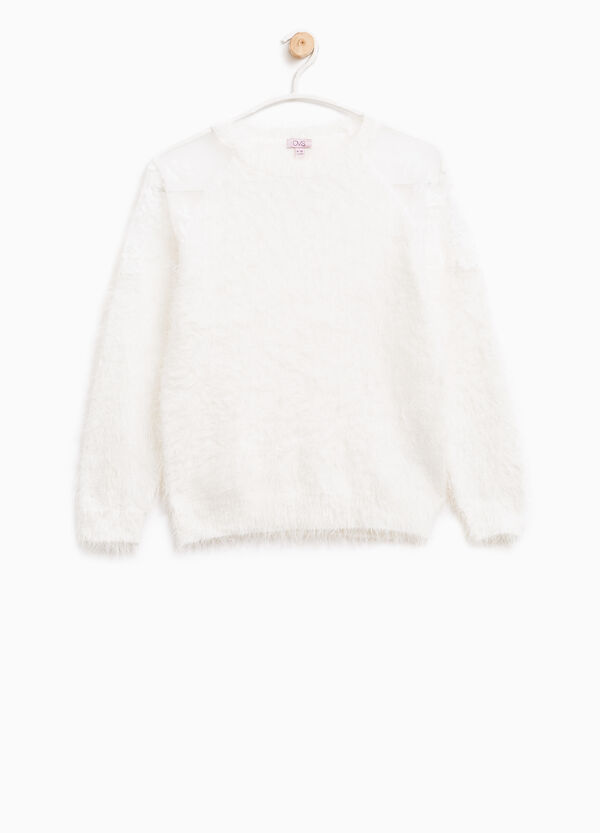 Fur pullover with lace | OVS