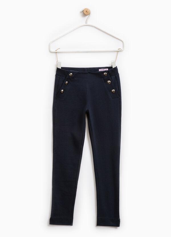 Pantaloni in cotone con bottoni | OVS