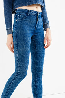Mis-dyed, stretch skinny-fit jeans, Medium Wash, hi-res