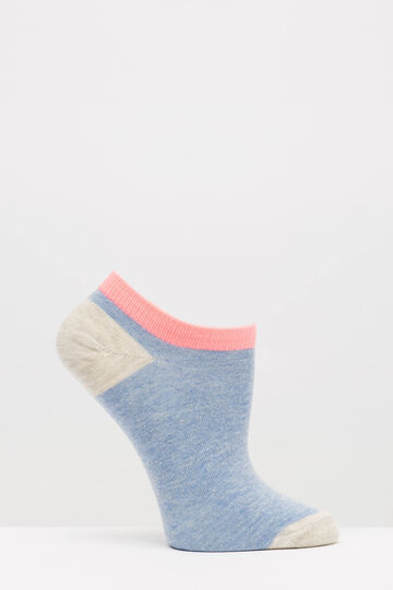 Two-pair pack stretch socks with pattern, Grey, hi-res