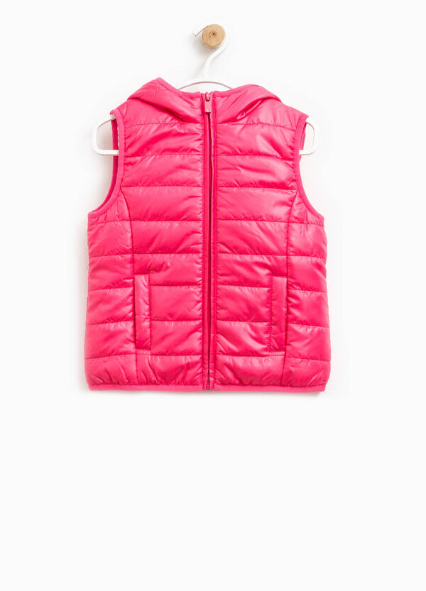 Padded waistcoat with high neck with hood | OVS