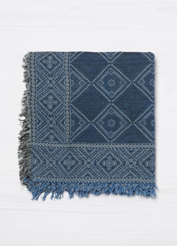 100% cotton jacquard scarf | OVS