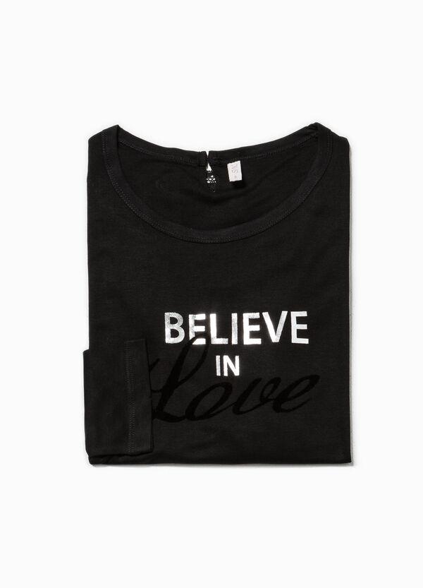 Camiseta de pijama con encaje y motivo de texto | OVS