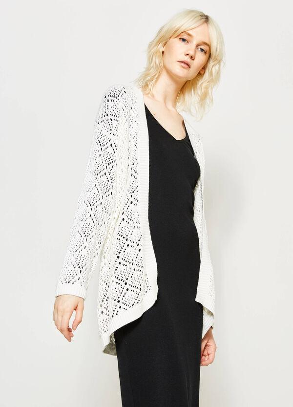 Cardigan tricot con costina | OVS
