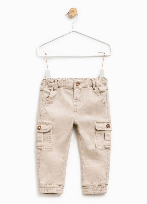 Stretch cotton trousers with pockets | OVS