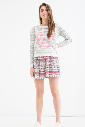 Sweatshirt with print by Maui and Sons, White, hi-res