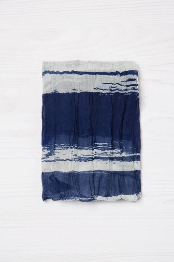 Sciarpa effetto stropicciato stampata, Bianco/Blu, hi-res