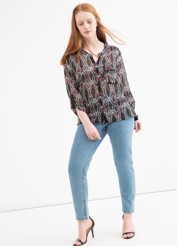 Camicia cotone stampa Curvy | OVS