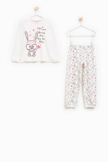 Cotton pyjamas with rabbits print