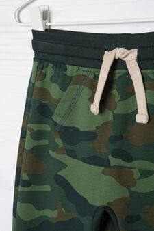 Stretch camouflage joggers, Green, hi-res