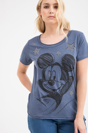 T-shirt Mickey Mouse Curvy, Blu denim, hi-res