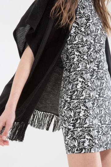 Stretch floral dress, Black, hi-res