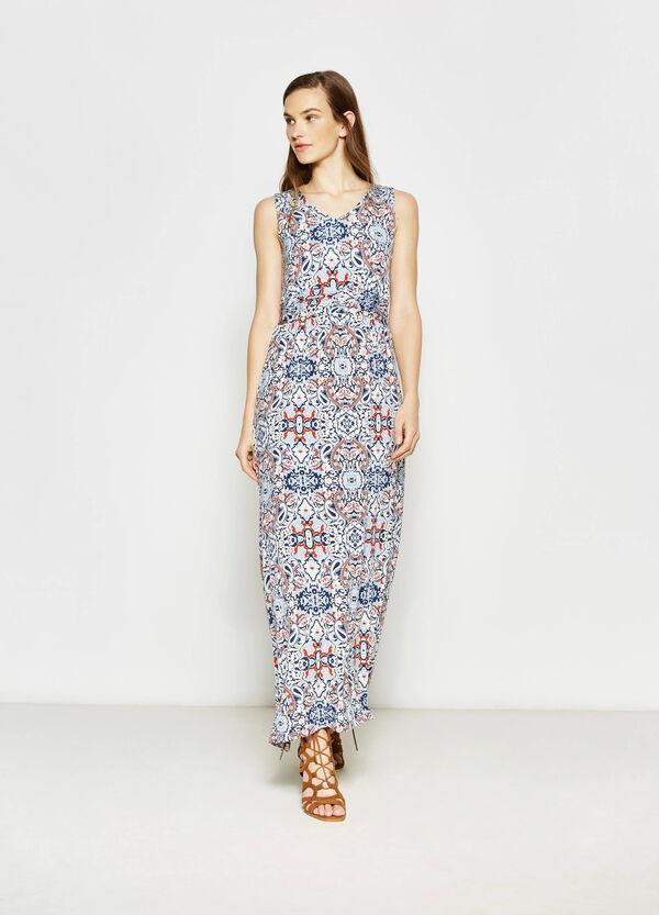 Long printed stretch dress | OVS