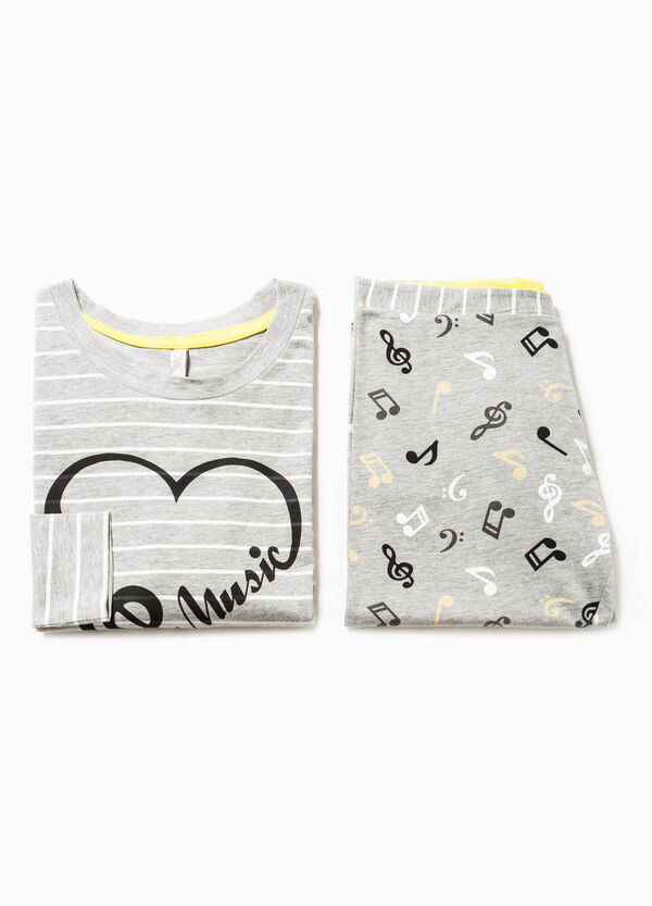 Striped pyjamas with musical notes pattern | OVS
