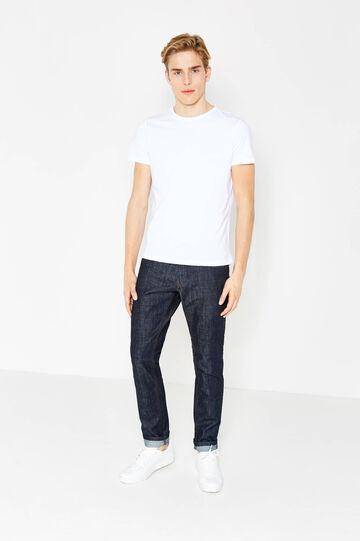 Solid colour slim fit jeans, Dark Wash, hi-res